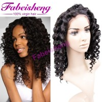 handmade full lace wig 100% human hair alibaba express Italian wave human hair extension