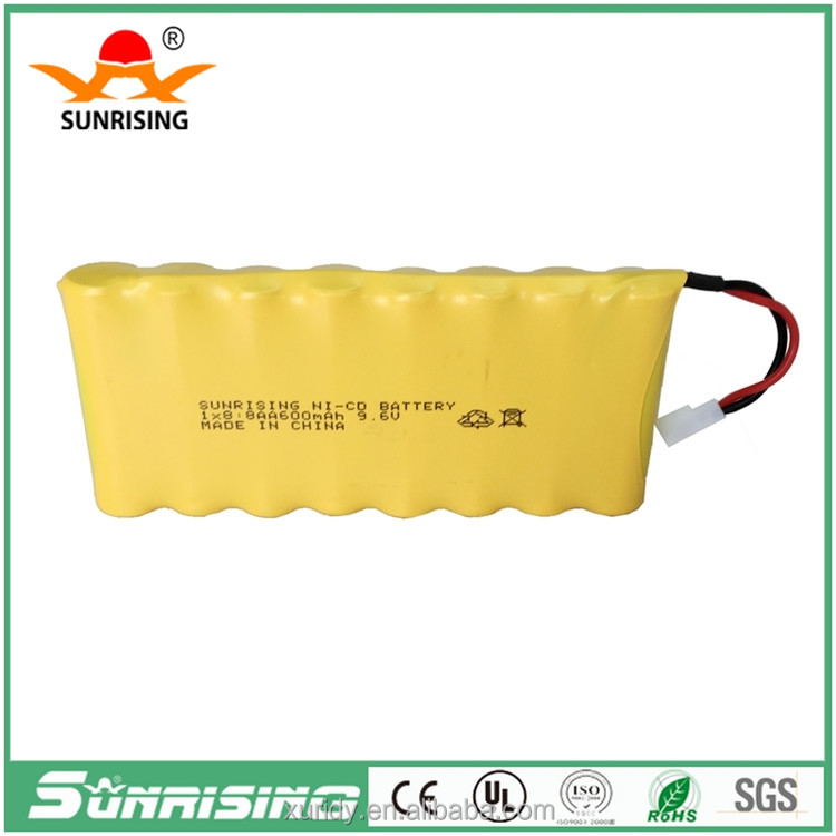 9.6V Ni-Cd size AA 700mAh Rechargeable battery pack