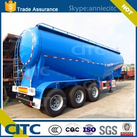 Bulk cement transport tanker semi trailer and dry bulk cement transport truck