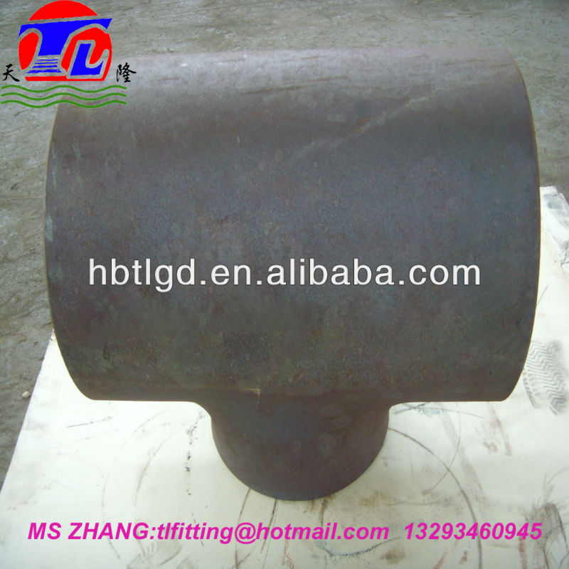 din 2615 seamless tee dn 400 tee equal and reduing type/chinese supplier for carbon steel tee
