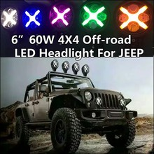 hot selling factory price round 6 inch 60w auxiliary lights for jeep jk headlight