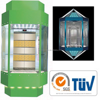 glass panoramic elevator with high quality