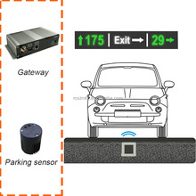 Infrared and Magnetic Parking Lot Vacancy Detection System with LED indicator
