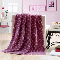 Polar Fleece Blanket 100 polyester super soft baby picnic travel throw solid color 100% polyester factory China best price