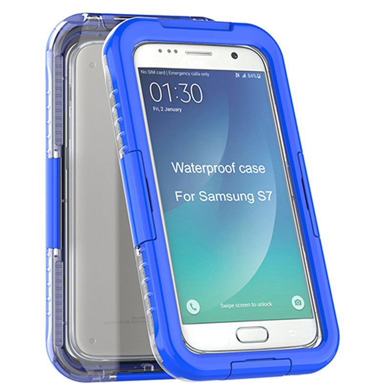 Ultra Thin Seamless Touch Screen Shockproof plastic waterproof case for S7