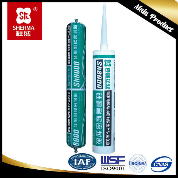 Purpose use Neutral cure green silicone sealant