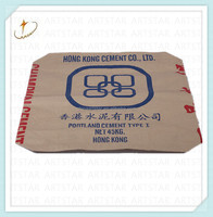 Brown kraft paper bag for cement packing 50kg