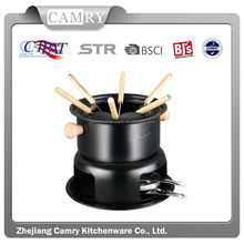 carbon steel 11pcs fondue set cheese fondue set