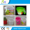 Custom printing 1Liter food grade plastic bucket with tear tap to open