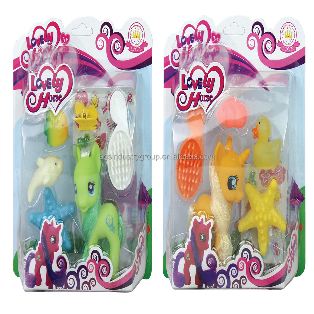 super quality lovely pink horse toy sets my little ponies