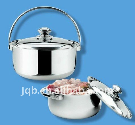 Family use 20L stainless steel pot with glass lid