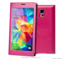 touch screen PVC window leather case for samsung galaxy S5