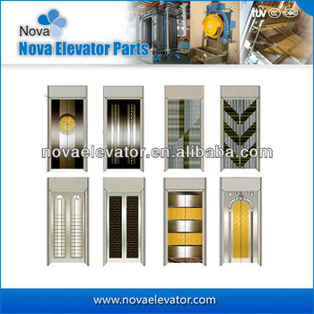 Fashion Design Passenger Elevator Door Plate, Panoramic Elevator door Panel, Elevator Landing Door