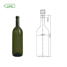 15l large sale portable handmade glass wine bottles