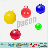 ECO-friendly PVC hopper ball/jumping ball with handle for kids