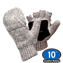 Insulated Ragg Wool glove with flap for winter outdoor work or Cold store
