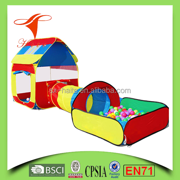 Durable Indoor Play Tent With Tunnel And Balls/Kids Play Tent House