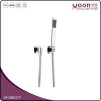 Chrome Finish Single Lever Floor Mounted Bathroom Bathtub with Handheld Mixer Shower Faucet Set AP-SB037CP