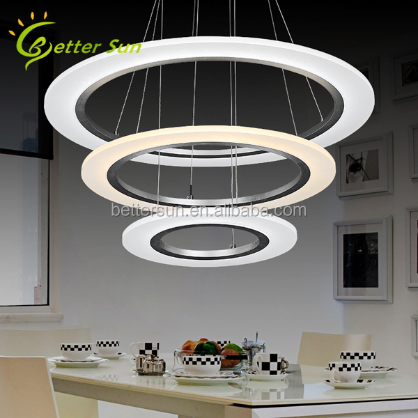 Three Rings Modern Luxury Pendant Light Fixture LED Lamp for the House
