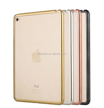 Electroplating Mirror edge TPU and Laser Carving pictures Protective Cover Case for Ipad mini 1\2\3\4