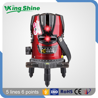 Decoration auto leveling laser level 360 rotary 5 lines 6 points