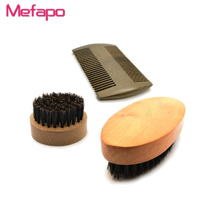Facial Care Mustache Ideal Gift 100% Sandal Wood Grooming Kit Beard Comb for Men
