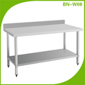 commercial worktable with under shelf stainless steel kitchen worktable