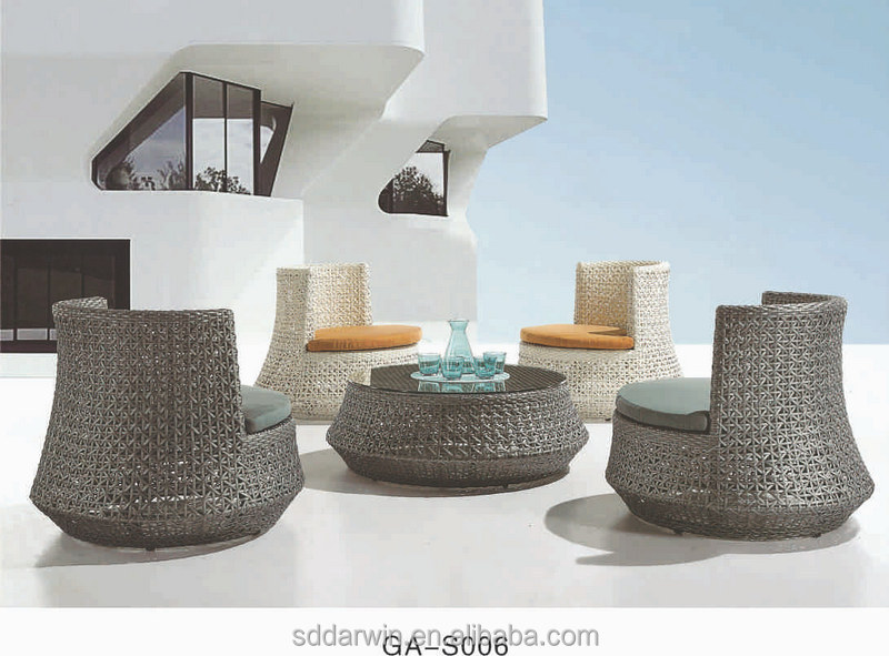 Foshan Cane Garden Tables Chairs