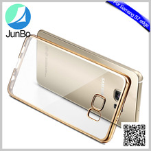 Transparent electroplate tpu case for samsung galaxy s7 edge