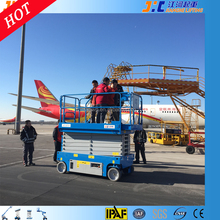 scissor lift12m lifting equipment scissor lift high rise window cleaning equipment high working car safety platform