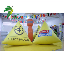 New yellow inflatable water triangle sea floating buoy advertising