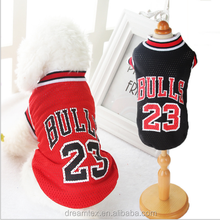creative pet clothes teddy puppy dog basketball clothes