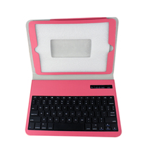 Fashionable folding leather protective Bluetooth Keyboard for IPAD AIR
