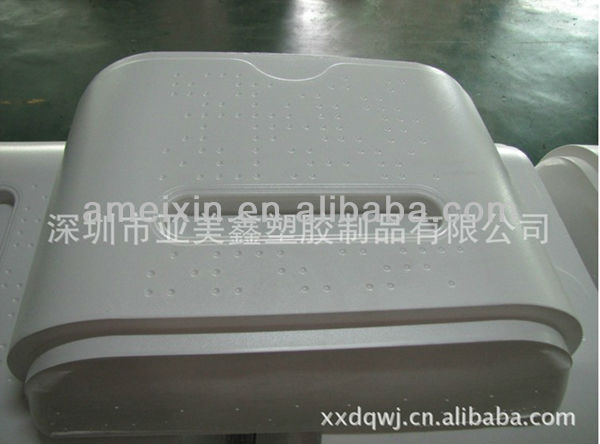 Fashion design Custom vacuum formed white micro-wave oven display enclosure