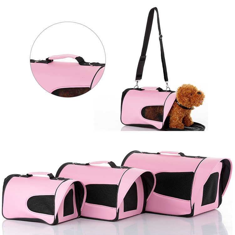 Pet carrier Foldable pet dog carriers bag High quality cat bag with steel plate