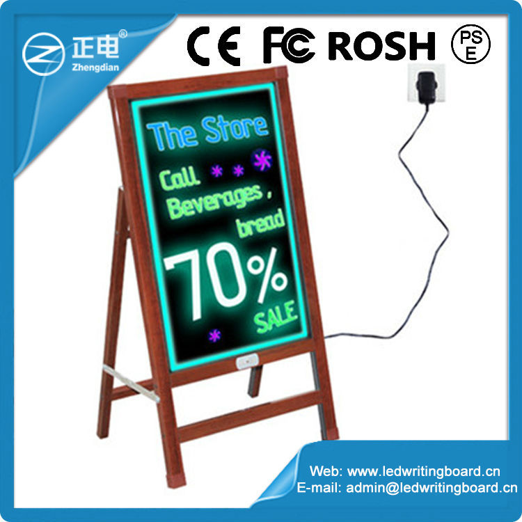High Quality ZD Outdoor LED Board Writing Tempered Glass Panel LED Electric Blackboard