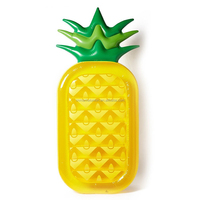 2017 fashion leasure giant pineapple inflatable pool float ourdoor swimming raft for party fun pool toys for adults and kids