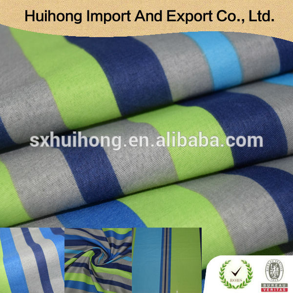 2016 Latest stripe design Soft touch woven custom printed fabric