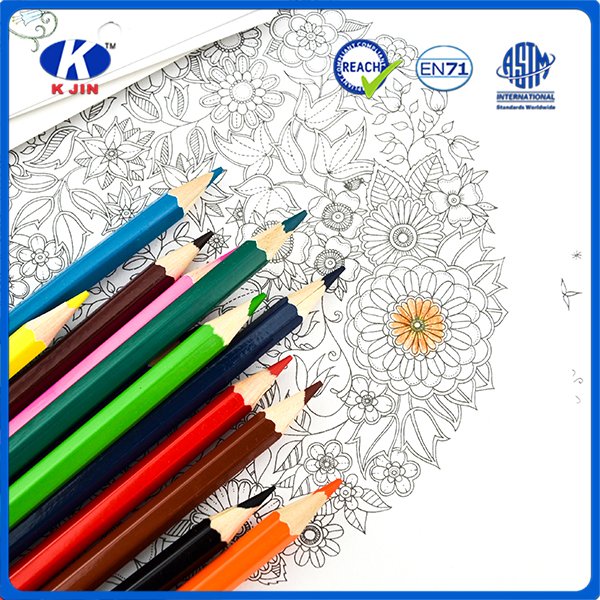 2016 Customization slap-up basswood color pencil with 12 color for school