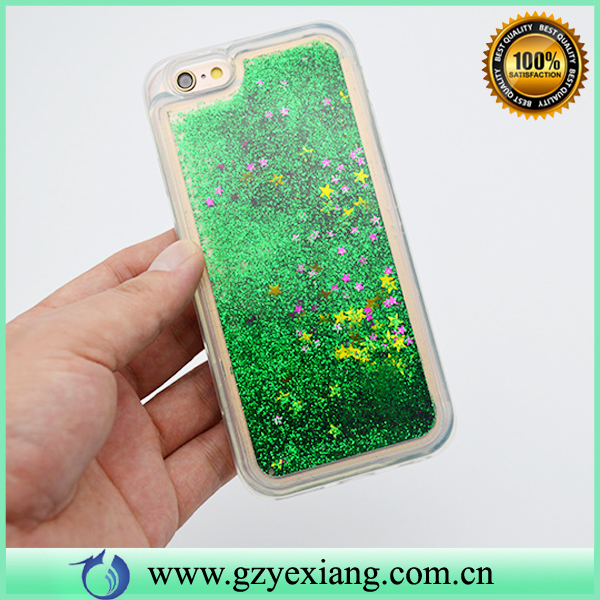 HOT TPU Transparent Luxury Liquid Glitter Phone Case For HTC 626 Back Cover