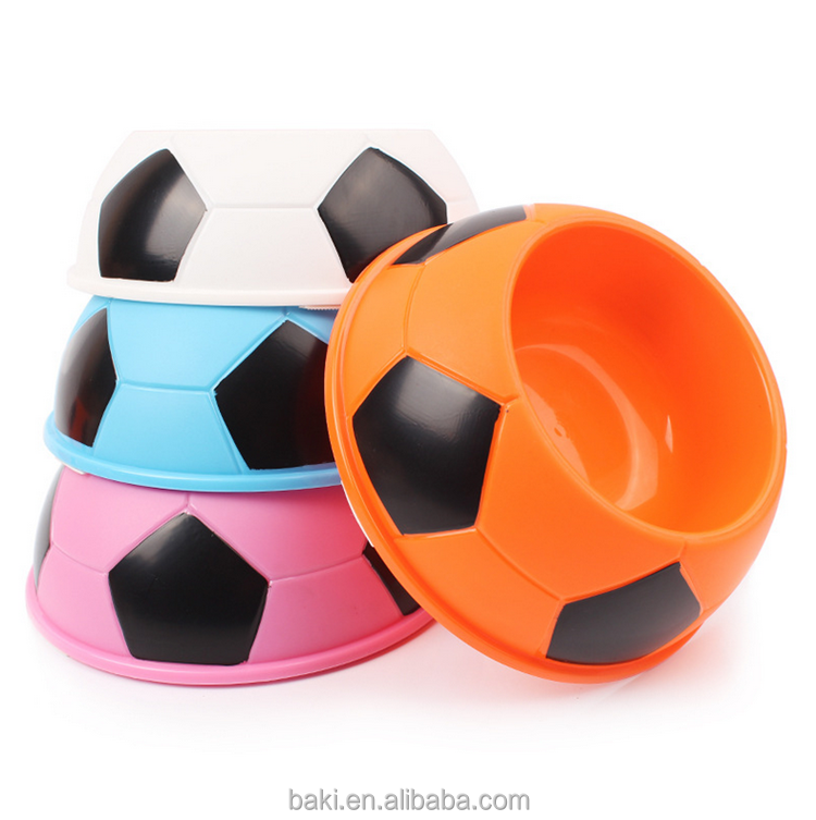 High Quality Football Shape Wholesale Feed Plastic Dog Bowl