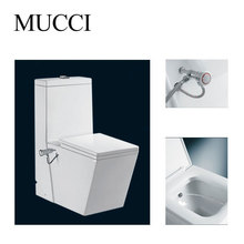 Toilet and bidet in one with spray nozzle shattaf toilet bidet - MUCCI