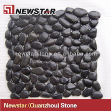 Newstar cheap polished black pebbles tile