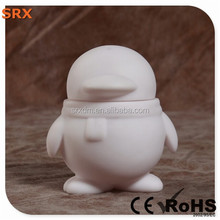 Creative pop penguin hot toys for kid, DIY white pop vinyl hot toy for kid, OEM non-toxic blank vinyl figures China manufacturer