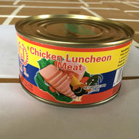 canned chicken luncheon meat for table food