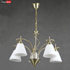 wholesale big iron modern round crystal fixed luminaire chandelier pendant light
