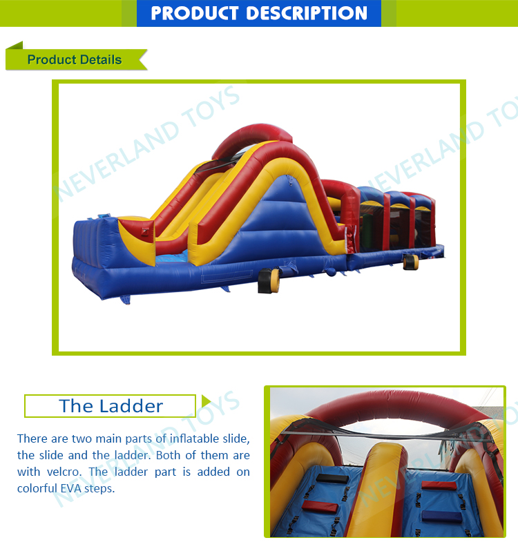 NEVERLAND TOYS IFO-40 40' Ultimate Challenge inflatable obstacle, inflatable obstacle course Inflatable Challenging Obstacle
