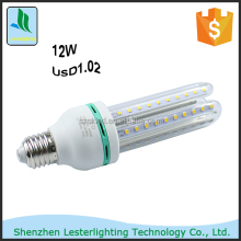Energy saving CE E27 12W power 2835 SMD LED Corn Bulb AC85-265V U Shape High Luminous Spotlight LED lamp lights free sample