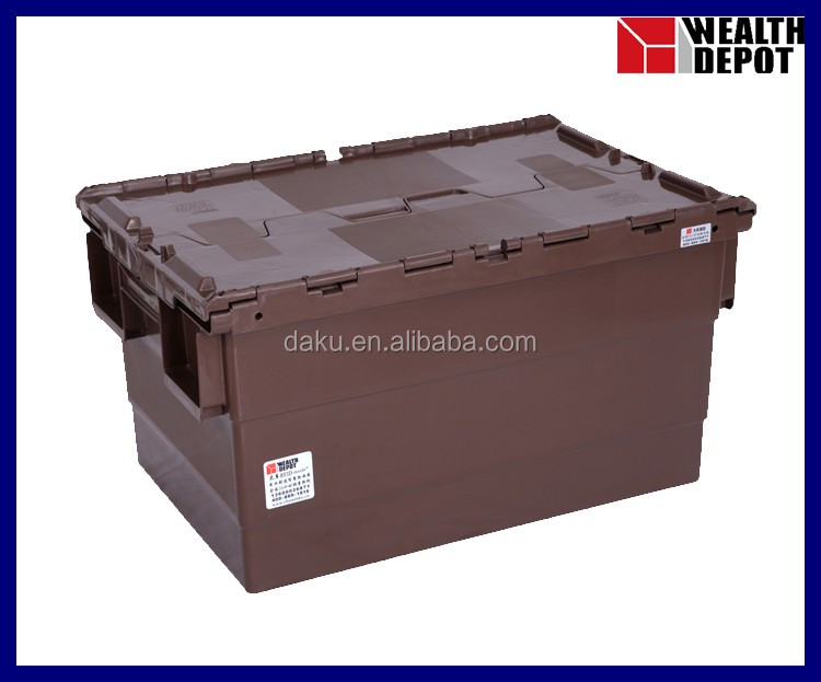 600x400x365mm Plastic Turnover Box with Lids