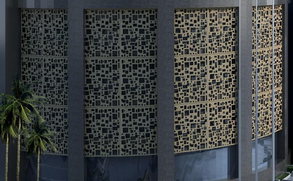 Metel Architecture wall panel decorative laser cut fencing